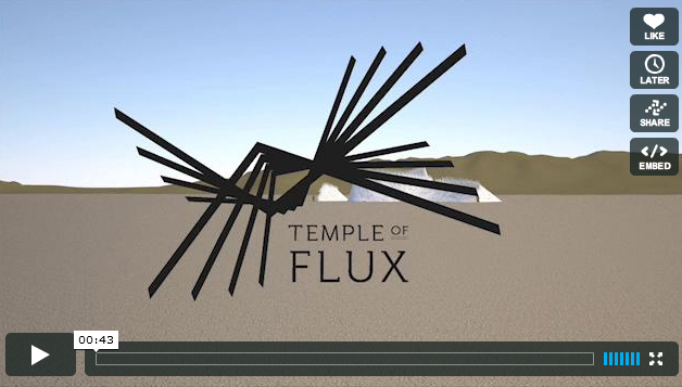Burning Man Temple 2010 Animation